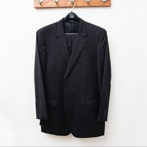 Joseph A. Bank black suit jacket and pant